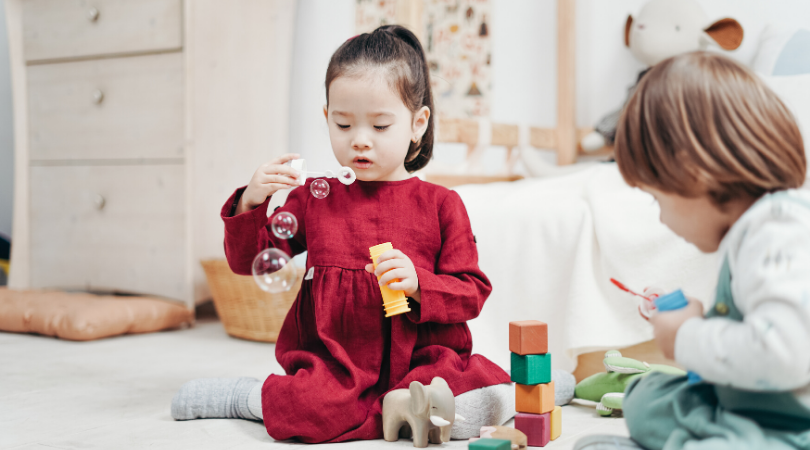 Girl and Boy playing indoors activities for your kids