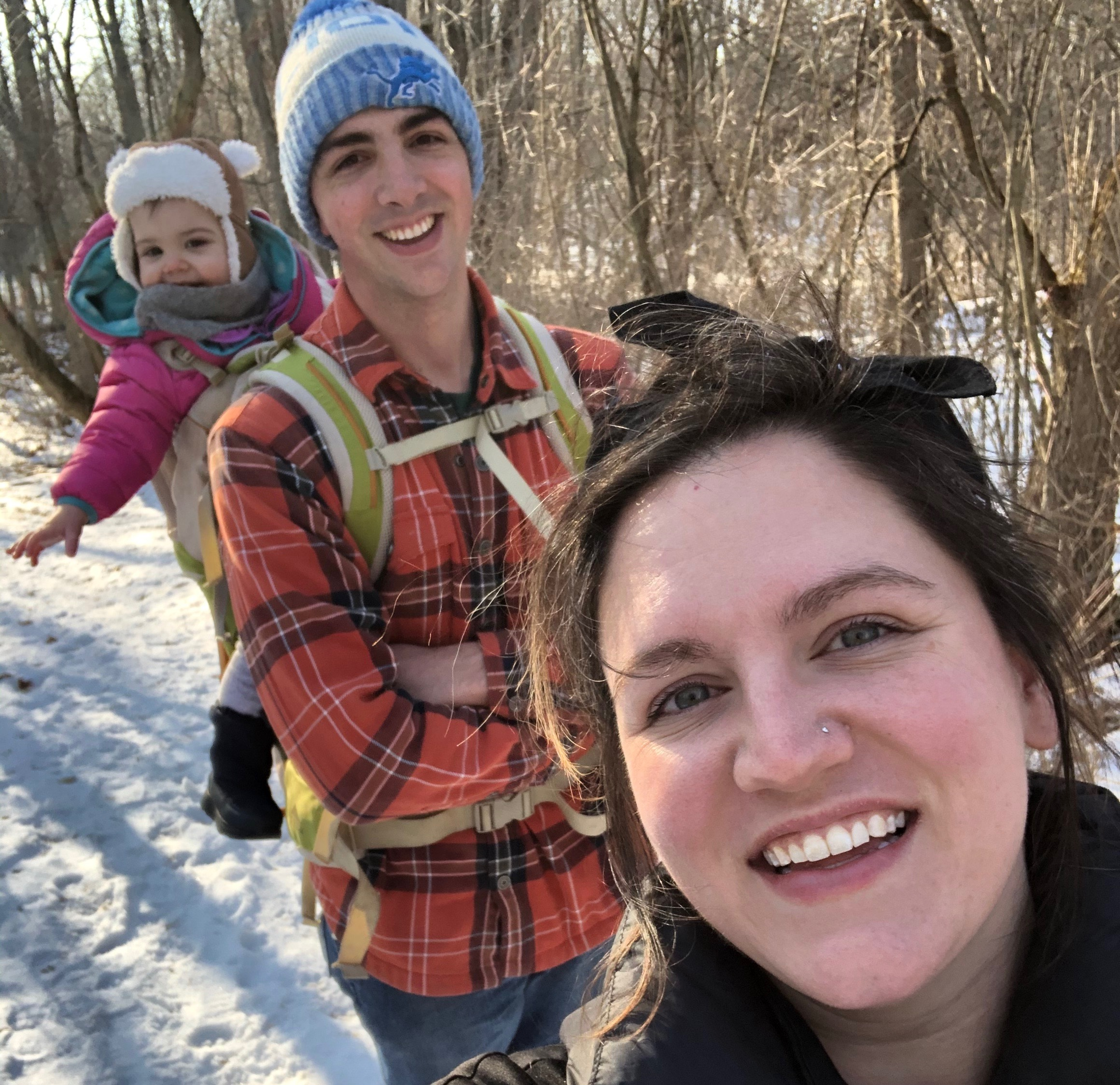 family hike in Sleepy Hollow